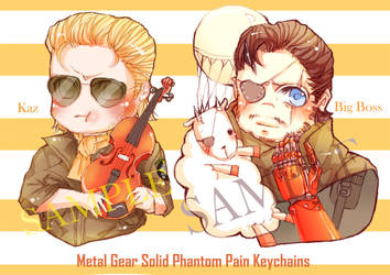 Metal Gear Solid Phantom Pain Keychains Preorder!! by suzanna8767