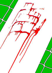 bl-green 1 abstration bloody abstraction by Euripidexx1