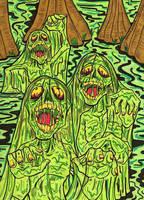 Swamp Zombies by lagatowolfwood