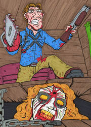 Evil Dead Tribute by lagatowolfwood