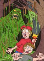 swamp monster by lagatowolfwood
