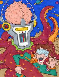 Captain Chip Debris vs. The Space Ock by lagatowolfwood