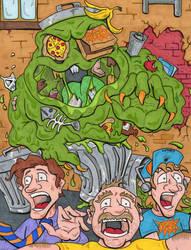 Garbage Monster by lagatowolfwood