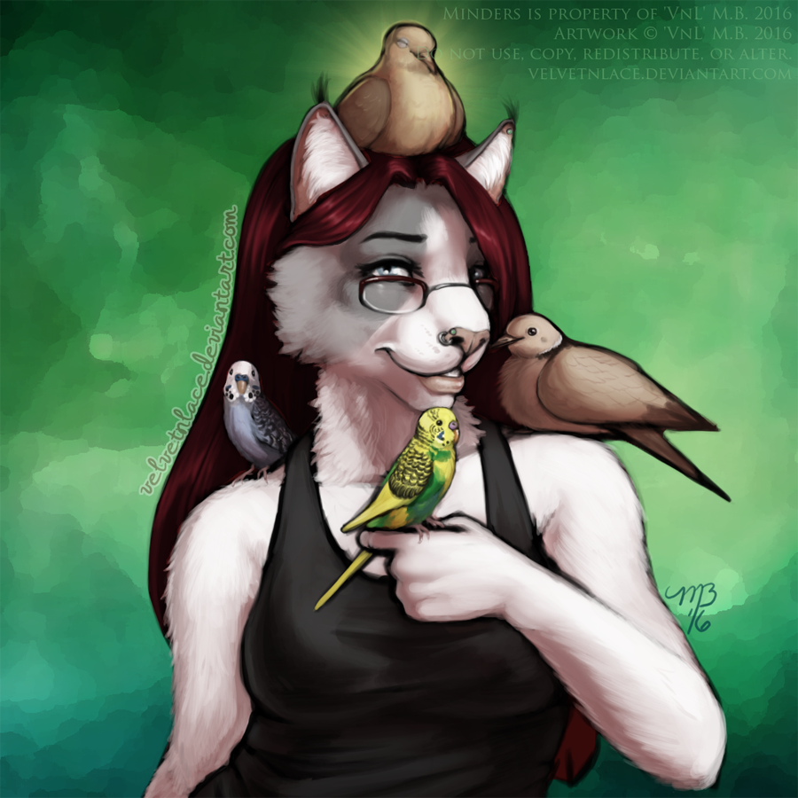 Bird Lady by velvetnlace