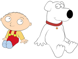 Stewie and Brian by Antixi
