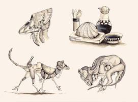 Rattler Doodles by TheSeaLemon