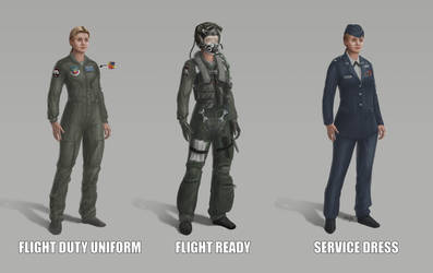 Captain Marvel, MCU, US Air Force outfits by Nova-sama420
