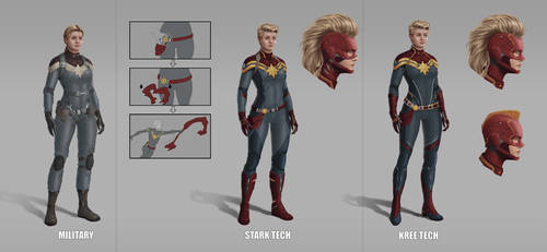 Captain Marvel, MCU, Superhero suits by Nova-sama420