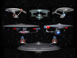 The Starships Enterprise by davemetlesits