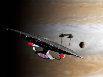 Leaving Jupiter by davemetlesits