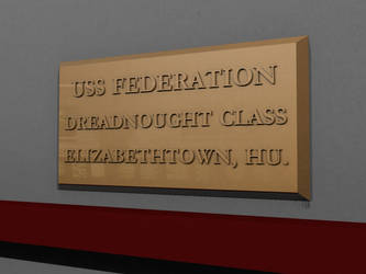 USS Federation plaque by davemetlesits