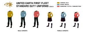 First Fleet duty uniforms by davemetlesits