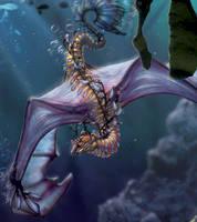 Sea Dragon Close Up by Novawuff