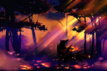 Okami - Evening Lights by EvilQueenie