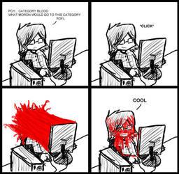 Blood strip comics by SirPete