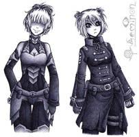 Mei and Arcee (Concept Sketch) by Seminon