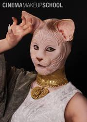 Egyptian Cat Goddess by CinemaMakeupSchool