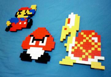 LEGO: Mario, Goomba, Koopa by Meufer
