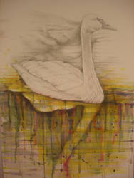 Swan Song Dripping by Wildatart24