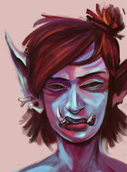 Troll Frowns by L-MakesArt