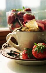 Tea and Strawberries. by Toisho
