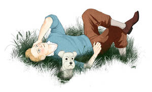 Tintin and Snowy by PanicDoll