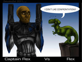 Captain Rex vs Rex by ZetsubouZed