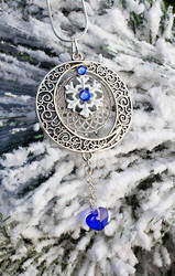Full Moon Winter Necklace by BrightStarGifts