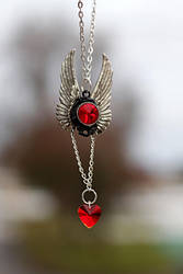 Angels Heart Pendant by BrightStarGifts