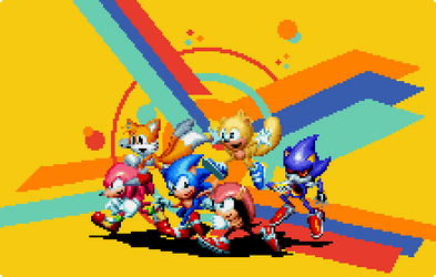 Sonic Mania Custom Fanart for Tyler McGrath by DOA687