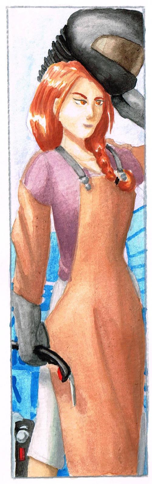 Cold-beige-lipstick mechanic by Akaszik
