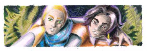 Fern flower - Caleb and Al bookmark by Akaszik