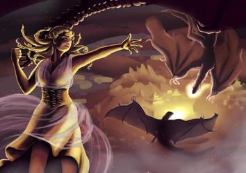 Daenerys by Akaszik