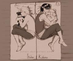 Hidan Kakuzu sleeping by Fukari