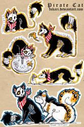 Pirate Cat - doodles by Fukari
