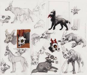 horned wolf by Fukari