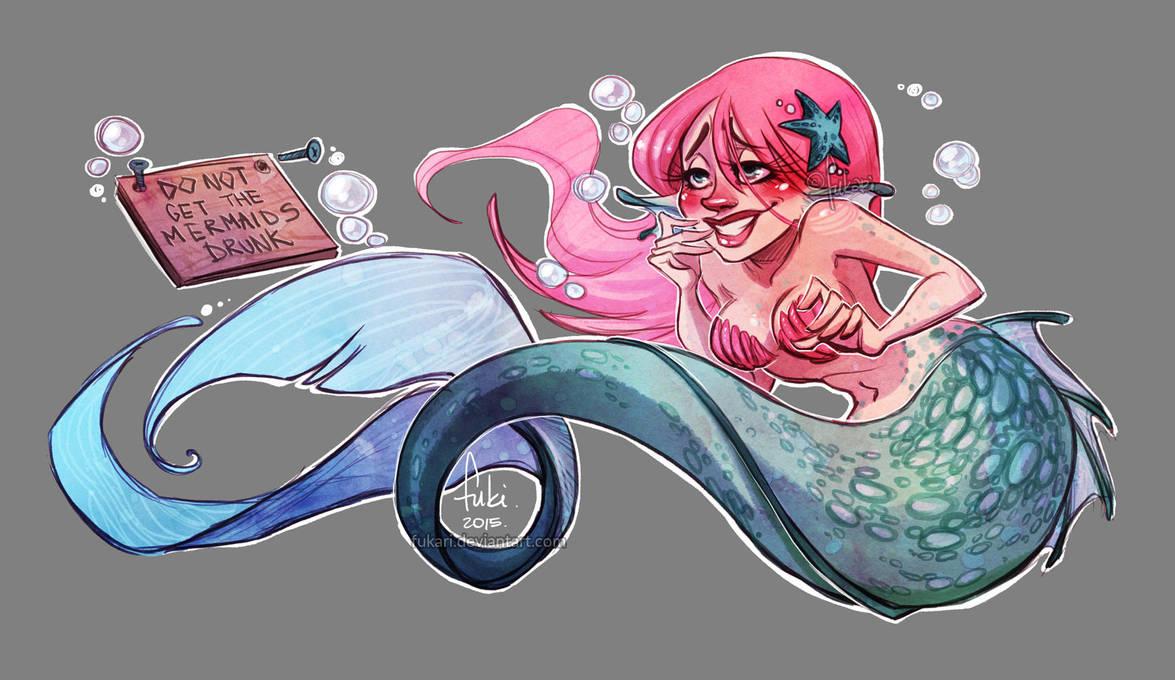 drunk mermaid by Fukari