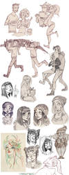 sketch dump - OCs by Fukari