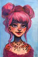 pink buns by Fukari