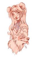 dog - sketch by Fukari