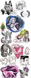 october doodles by Fukari
