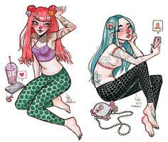 social mermaids by Fukari