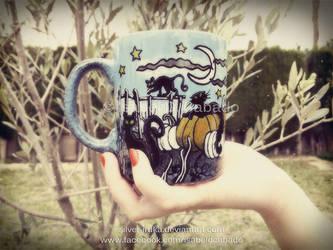 Cats, bats, pumpkins and ghosts 1 by Silver-Iruka
