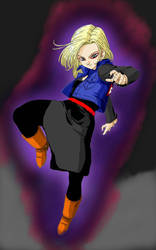 Android 18 (Black) by error-macro5