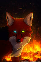 .: Fox Flames :. by Featherhaze