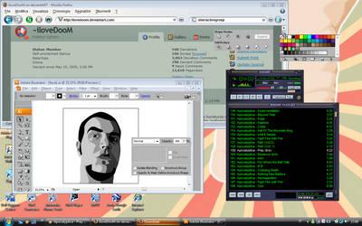 another vista on my desktop by iloveDooM