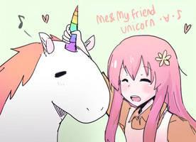 Me and My Friend Unicorn by tokkirun