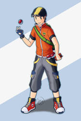 PKM Male trainer by Kitsu-DR