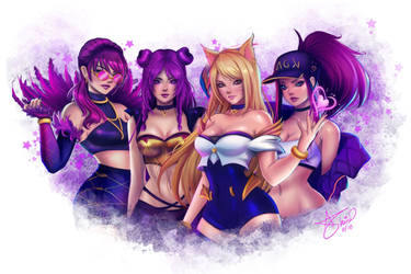 Kda Girls by Ghinarts