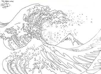The Great Wave off Kanagawa by Herahkti